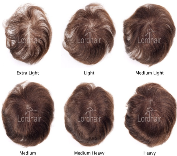 Hair System Density Sample
